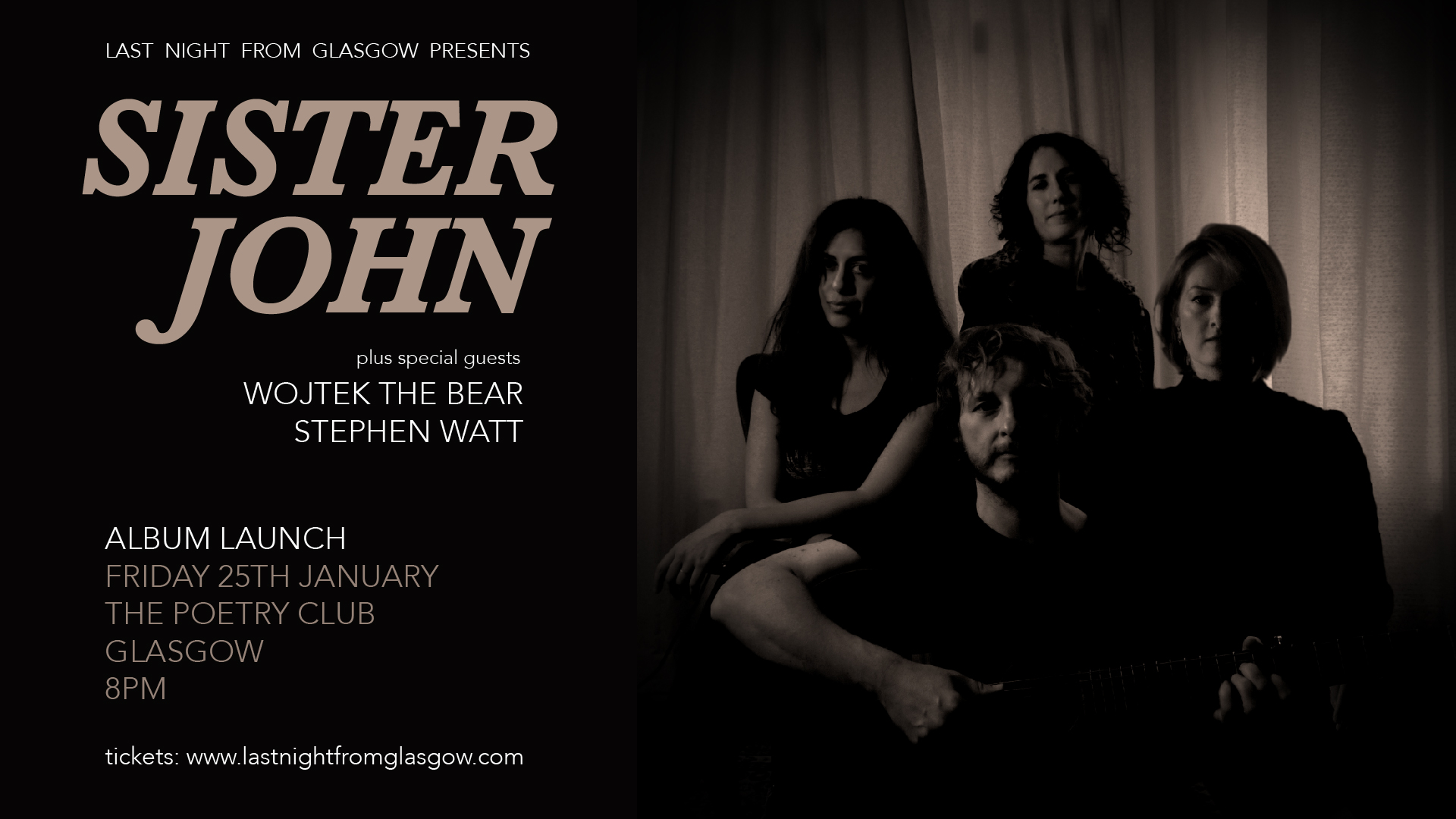 Sister John announce launch event at The Poetry Club – Last